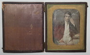 Visualizza Three quarter portrait of a seated man with g… anteprime su