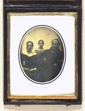 Thumbnail preview of Group portrait of unidentified man, woman and…