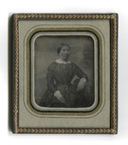 Visualizza Dreiviertelporträt einer unbekannten Dame im … anteprime su