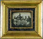 Visualizza Sechs Männer an einem Tisch mit Champagner u… anteprime su