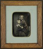 Visualizza Portrett av en sittende kvinne med rutete kjo… anteprime su