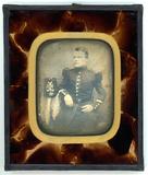 Visualizza Three quarter length portrait of a seated man… anteprime su
