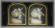Miniaturansicht Vorschau von Classical-style marble statue group, of a fig…
