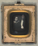Thumbnail preview of Double portrait of Thea og Carl Thomsen.