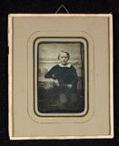 Visualizza Portrait of a boy, half figure, seated, resti… anteprime su