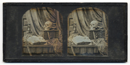 Thumbnail af A memento mori composed in front of a fringed…
