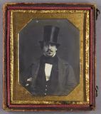 Thumbnail preview of Halbporträt eines Mannes mit Schneuzer im Man…