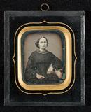 Visualizza Portrait of a woman, half figure, seated with… anteprime su