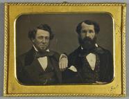 Visualizza Zwei gut situierte Gentlemen, Halbportrait anteprime su