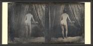 Visualizza Nu féminin debout, de dos, draperies anteprime su