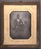 Thumbnail preview of Sitzender Mann, den linken Arm auf einen Tisc…