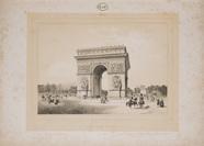 Visualizza Arc de Triomphe de l'étoile à Paris; planche … anteprime su