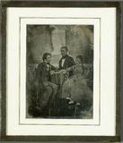 Visualizza Portrait de groupe, un homme et deux enfants anteprime su
