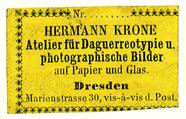 Forhåndsvisning av Etikett von Hermann Krone