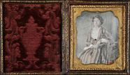 Thumbnail preview of Three-quarter portrait of a sitting middle ag…