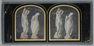Miniaturansicht Vorschau von View of two statues of draped and partially u…