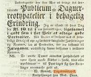 Visualizza Woldemar Renards annonse om daguerreotypierin… anteprime su