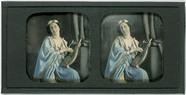 Miniaturansicht Vorschau von portrait of unknown woman playing a lyre
