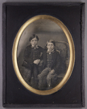 Thumbnail preview van Bildnis von zwei Jungen, einer im Sessel sitz…