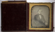 Visualizza Half-length portrait of a seated young man, l… anteprime su