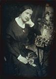 Miniaturansicht Vorschau von Porträt einer unbekannten Dame mit Blumen.