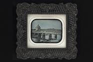 Visualizza View of a bridge crossing a river; a small br… anteprime su