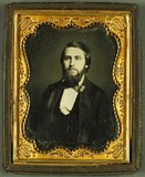 Visualizza Junger Mann mit Vollbart, USA, ca. 1855. anteprime su