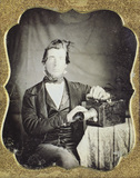 Visualizza Daguerreotypist mit amerikanischer Kamera anteprime su
