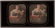 Visualizza Leicht bekleidete Frau neben einem Schachspie… anteprime su