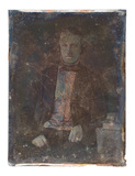 Thumbnail preview of portrait of a man with books, sitting