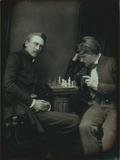Visualizza Doppelporträt von Wolf und Händler beim Schac… anteprime su