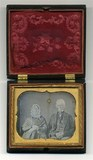 Visualizza Half length portrait of seated elderly couple… anteprime su
