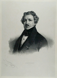Thumbnail preview of Lithografie Porträt von Louis Jacques Mandé D…
