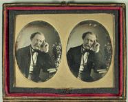 Visualizza Stereodaguerreotypie eines Mannes, um 1850.  … anteprime su
