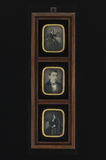 Thumbnail preview van serie of three daguerreotypes, individually m…