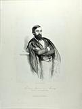 Visualizza Knieportrait eines Mannes mit Vollbart, an ei… anteprime su