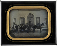 Thumbnail preview of Group portrait with horse carriage