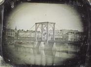 Miniaturansicht Vorschau von Hängebrücke in Rouen. Auch diese Daguerreotyp…