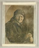 Visualizza Alte mit Kopftuch, Halbfigur, um 1850 anteprime su