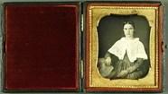 Visualizza Mädchen mit weißem Cape, USA, ca. 1849. anteprime su