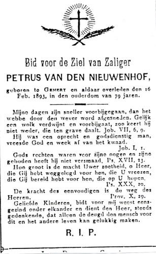 Petrus v.d. Nieuwenhof