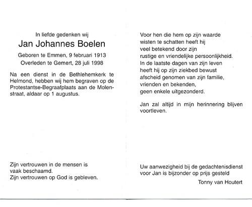Jan Johannes Boelen