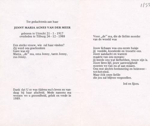 Jenny Maria Agnes v.d. Meer