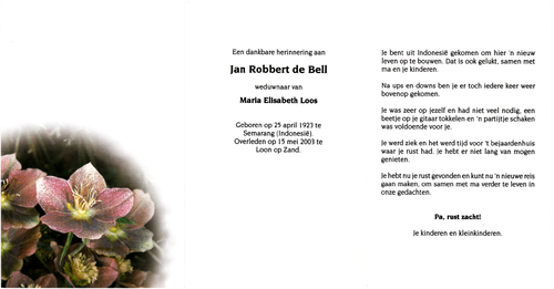 Jan Robbert de Bell