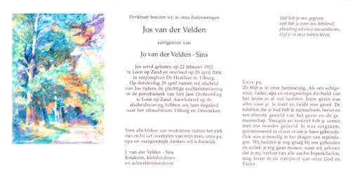 Adrianus Cornelis Marinus (Jos) van der Velden