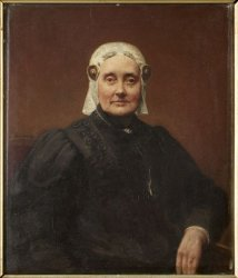 Anonymus - Portret van Grietje Frederiks Zoutman (1828-1895).