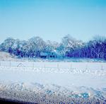 Sneeuwgezicht van boerderij Vlooswijk in Oud-Leusd...