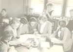 Het leslokaal van Cilia Loots in haar woning aan d...