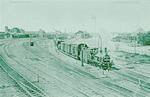 Amersfoort spoorwegemplacement. Een stoomlocomotie...