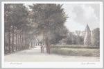 De Dodeweg bij Oud-Leusden, met toren. Tussen de b...
